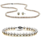 Genuine 9.5-10mm Freshwater Cultured Pearl Set in Sterling Silver