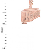 Solid 10k Rose Gold San Francisco Cable Car Charm Pendant