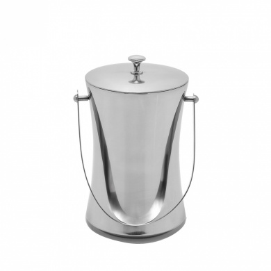 Mr. Ice Bucket Stainless Steel Ice Bucket, Small, Chrome