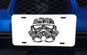 Abstract Black and White Stormtrooper Art Aluminium Licence Plate for Car Truck Vehicles