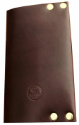 American Bench Craft Riveted Leather Field Notes Journal Cover Brown