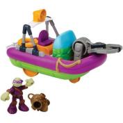 Teenage Mutant Ninja Turtles Pre-cool Half Shell Heroes Dive Boat with Diver Donatello Bathtub Vehicles and Figure