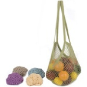 Frontier Natural Products 226588 Eco Bags String Bags Raspberry Natural Cotton