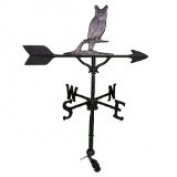 Montague Metal Products WV-223-SI 200 Series 80cm . Swedish Iron Owl Weathervane