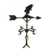 Montague Metal Products WV-330-SB 300 Series 80cm . Deluxe Black Bass Weathervane