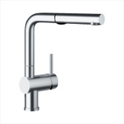 Blanco 441403 Linus Kitchen Faucet with Pullout Dual Spray and Metal Lever Handle - Chrome