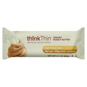 Think Thin Bars Creamy Peanut Butter & amp;#44; Gluten Free & amp;#44; 60ml & amp;#44; 10 count - Pack of 10