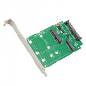 M.2 (NGFF) & mSATA SSD to SATA III with Standard & Low Profile Brackets