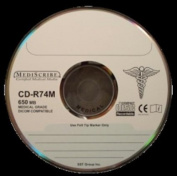 TDK CD-R80MST100M Disc CD-R 80 min MEDICAL Grade 700MB Silver Thermal Printable