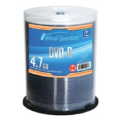 Optical Quantum OQBQDMR16WIP 100 Pack 16x 4.7GB DVD-R Blank Media White Inkjet Printable