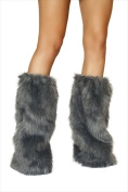 Roma Costume 14-C121-Grey-O-S Fur Boot Covers One Size - Grey