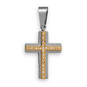 Gold Tone Stainless Steel Cross Pendant