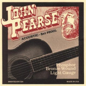 John Pearse 600L Phosphor Bronze Acoustic Guitar Strings Multi-Coloured