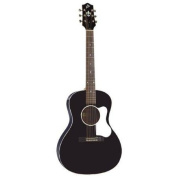 The Loar LO-16-BK Flat Top Acoustic Guitar, L-00 Body, Black Multi-Coloured