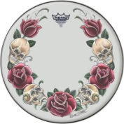 Remo Tattoo Skyn Drumhead 36cm Rock & Roses Graphic