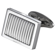 Caseti CACL012 Caseti Thomas Lined Stainless Steel Cufflinks