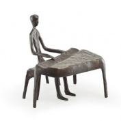 Danya B. ZD805S Piano Player Bronze Sculpture