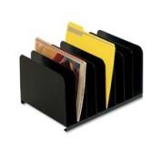 MMF Industries MMF2648004 Vertical Organiser- 8 Compartment- 38cm .x 11in.x 8-.33cm .- Black