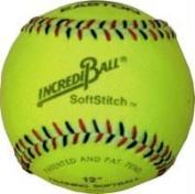 Olympia Sports BA139P Incrediball 30cm . Softstitch Softball - Yellow