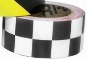 Olympia Sports SF576P 5.1cm . x 36 Yards Vinyl Tape - Black-White Chequered
