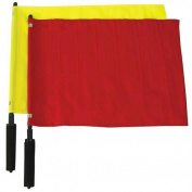 Olympia Sports SR019P Nylon with Wood Shaft Linesman Flags - Red and Yellow