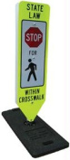 Olympia Sports SS199P Stop for Pedestrians within Crosswalk Sign-Fixed Base
