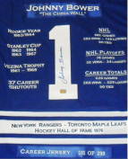 Career Jerseys Johnny Bower Limited Edition Autographed Career Jersey Toronto Maple Leafs