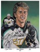 Autograph Warehouse 71121 Mike Modano Autographed Photo Dallas Stars Future Hall Of Famer 11X14 Limited Edition Lithograph Of No. 750