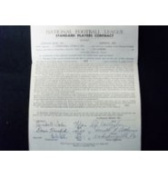 Powers Collectibles 33180 Signed Bell Bert 1957 Cleveland Browns Player Contract