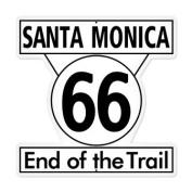 Past Time Signs PS046 Santa Monica 66 Automotive Custom Metal Shape