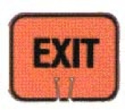 Snap-On Cone Sign - EXIT