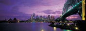 Panoramic Images PPI87458L Port Jackson Sydney Harbour And Bridge Night Sydney Australia Poster Print by Panoramic Images - 36 x 12