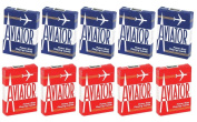 Aviator Standard Playing Cards - 5 Red Decks and 5 Blue Decks