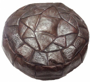 Authentic Egyptian Morocan Handmade Genuine Leather Ottoman Pouffe Footstool Unstuffed