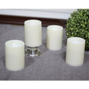 ELEOPTION. High quality Indoor/Outdoor Flameless Battery Operated Plastic Pillar Led Candle Light with 4 & 8 Hour Timer