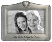 "Malden International Designs Metal Sentiments ""My Heart Belongs to Nana"" Picture Frame, 10cm by 15cm"
