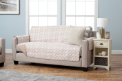 Adalyn Collection Deluxe Reversible Quilted Furniture Protector. Beautiful Print on One Side / Solid Colour on the Other for Two Fresh Looks. By Home Fashion Designs Brand.