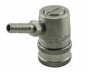 Ball Lock Gas Disconnect, Stainless Steel, 0.6cm Barb