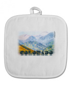 TooLoud CO Fog Mountains Text White Fabric Pot Holder Hot Pad