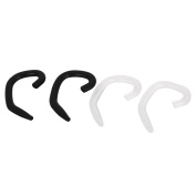 Unique Bargains 2 Pairs Black Clear Ear Hooks Loops Clips for Bluetooth Headset Earphone