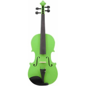 Le'Var 4/4 Student Violin Outfit, Neon Lime