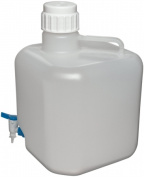 dynalab corp 505634-3 carboy square with spigot pp 20 l