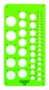 Westcott C-Thru Circle Geometric Template - 41 Circles