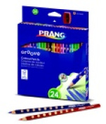 Prang Non-Toxic Colour Pencil Set - Assorted Colour Set - 24