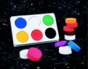 Jack Richeson Non-Toxic Standard Tempera Paint Cake Set - Assorted Colour Set - 6