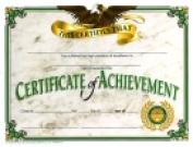 Hayes 22cm x 28cm . Achievement Certificate Pack 30