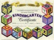 Hayes Kindergarten Certificate - 22cm x 28cm . - Paper Pack 30