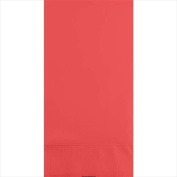Creative Converting 953146 Coral Guest Napkins 3-Ply - Case of 192