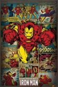 Hot Stuff Enterprise Z105-24x36-NA Iron Man Comics Poster 24 x 36