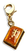 Whimsical Gifts 4550G Holy Bible Charm Dangle Gold